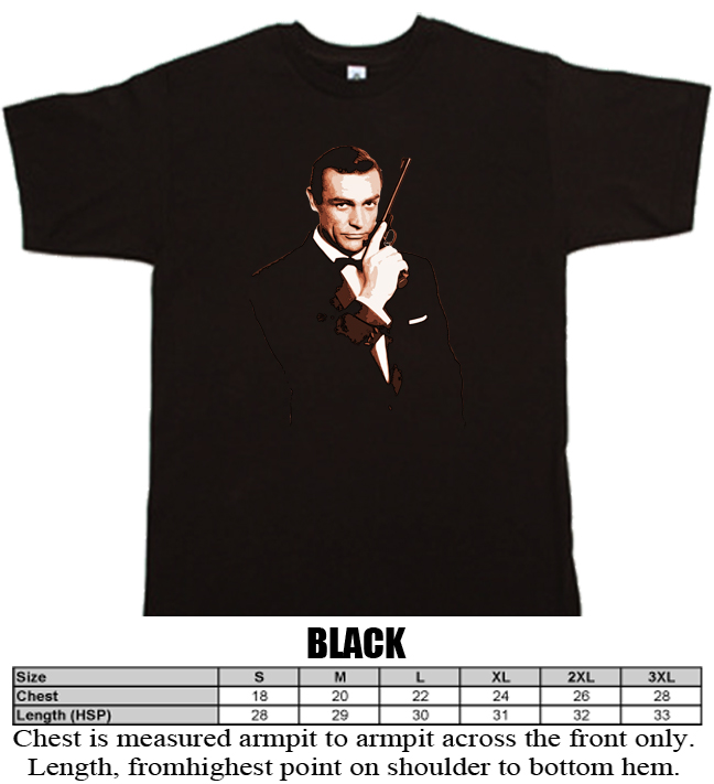 James Bond Ian Fleming 007 film T shirt