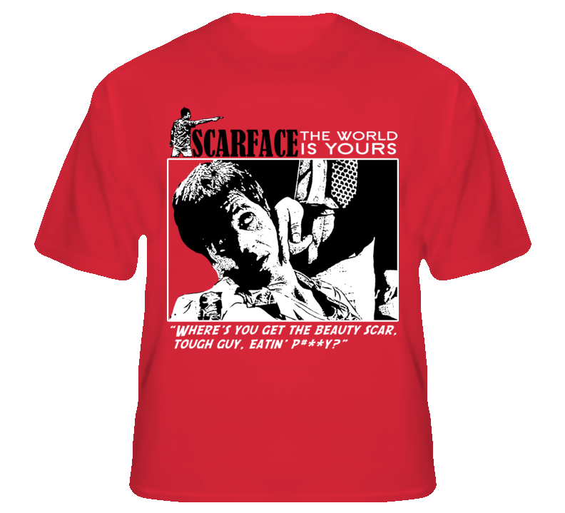Scarface Tony Montana Gangster Movie Cuban T Shirt T shirt