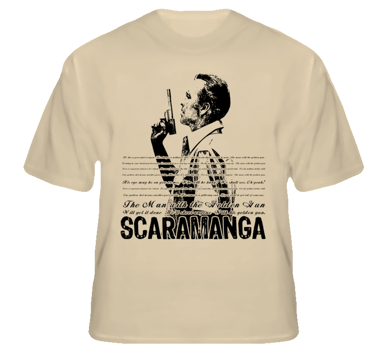 Scaramanga Man With The Golden Gun 007 Bond  T Shirt T shirt