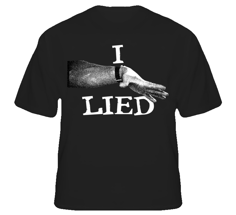 Commando Arnold I Lied Funny Quote Movie T Shirt T shirt