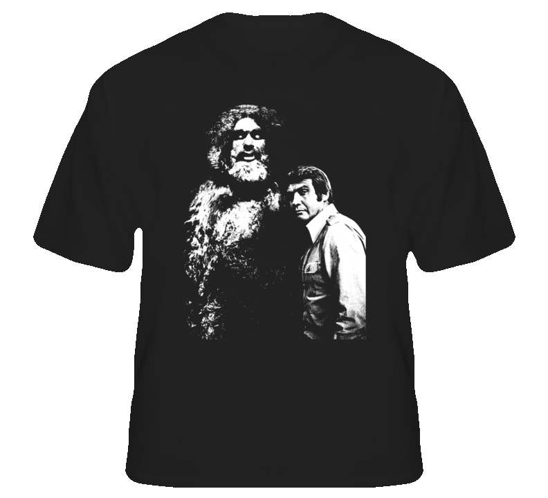 Six Million Dollar Man Sasquatch Bigfoot 70s Tv T shirt