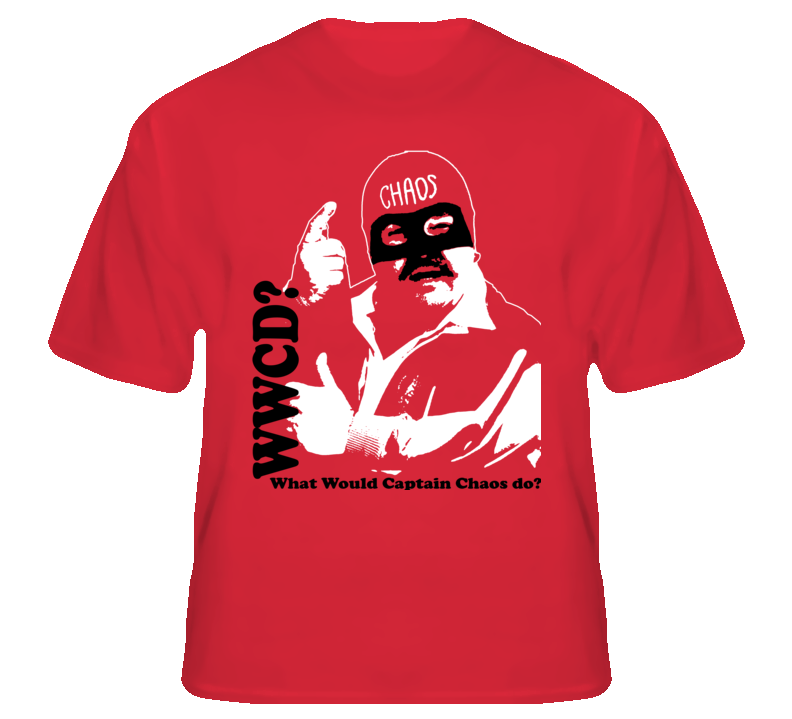Wwcd Captain Chaos Cannonball Run Funny Dom Movie T shirt