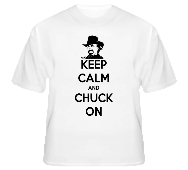 Keep Calm And Chuck On Funny Mash Up Usa British T shirt