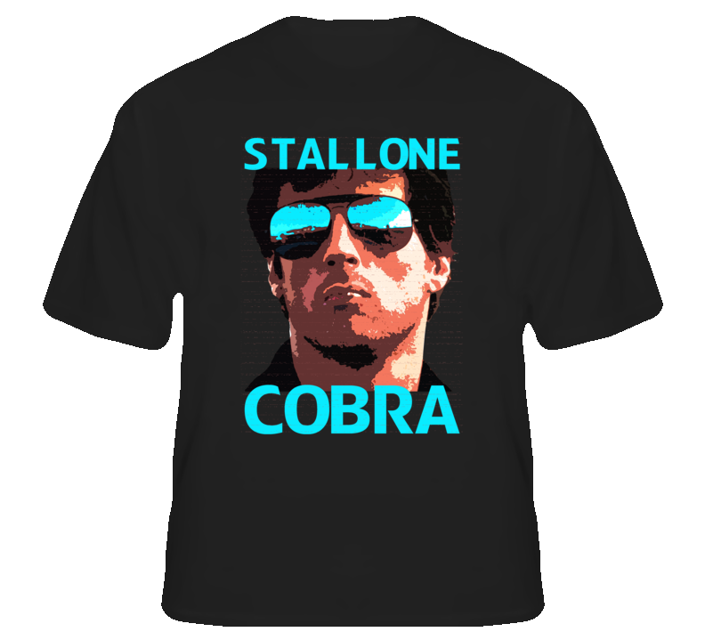 Cobra Stallone 80s Action Movie Icon T shirt