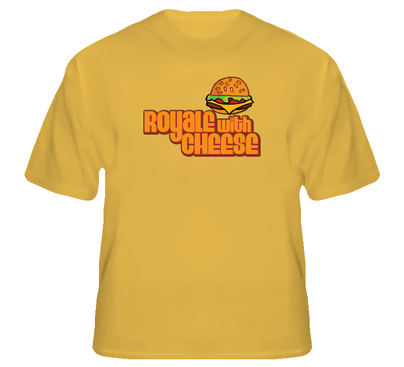 Royale with Cheese funny Pulp Fiction burger T shirt
