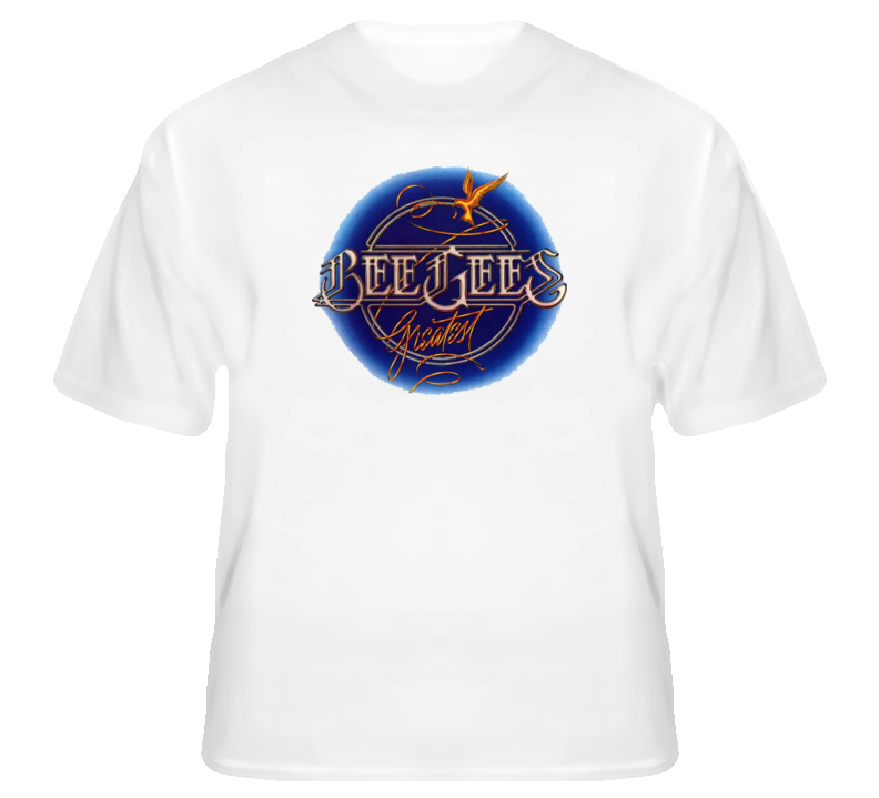 The BeeGees disco rock 70s Gibb t shirt