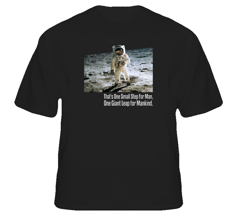 Neil Armstrong 1st man on moon rip American USA astronaut space t shirt
