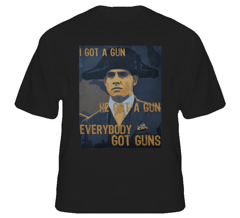 Everybody got guns Gyp Rosetti Boardwalk tv fan t shirt