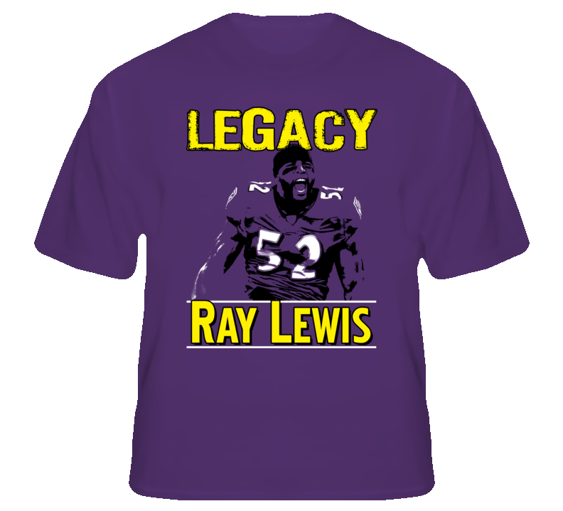 Ray Lewis #52 Football Legacy Baltimore fan t shirt