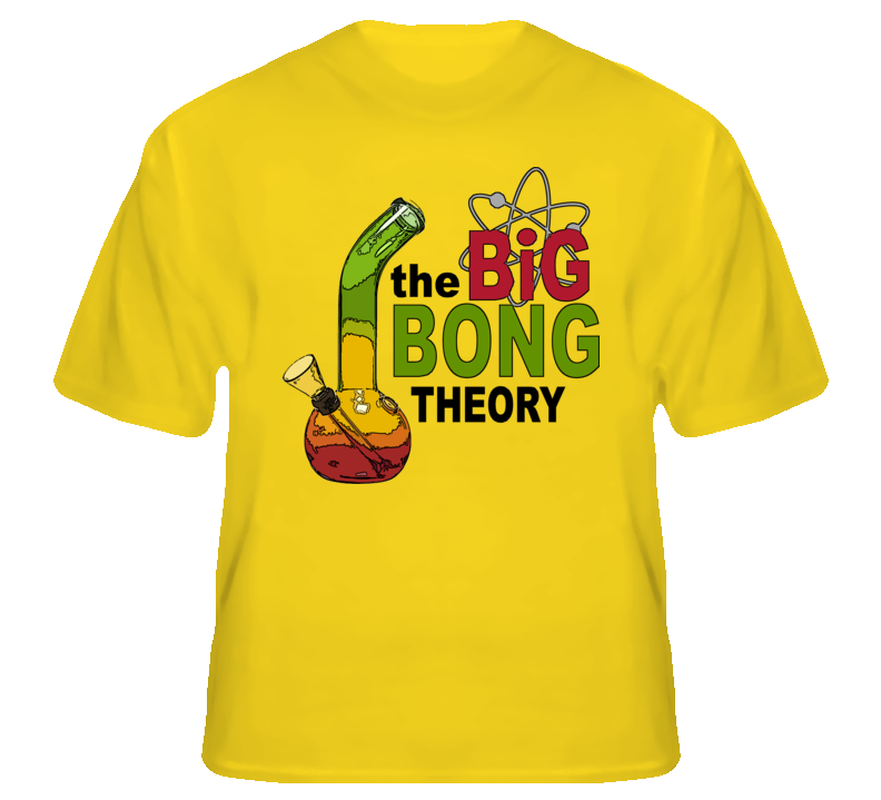 The Big Bong Theory funny weed pot legalize fan t shirt