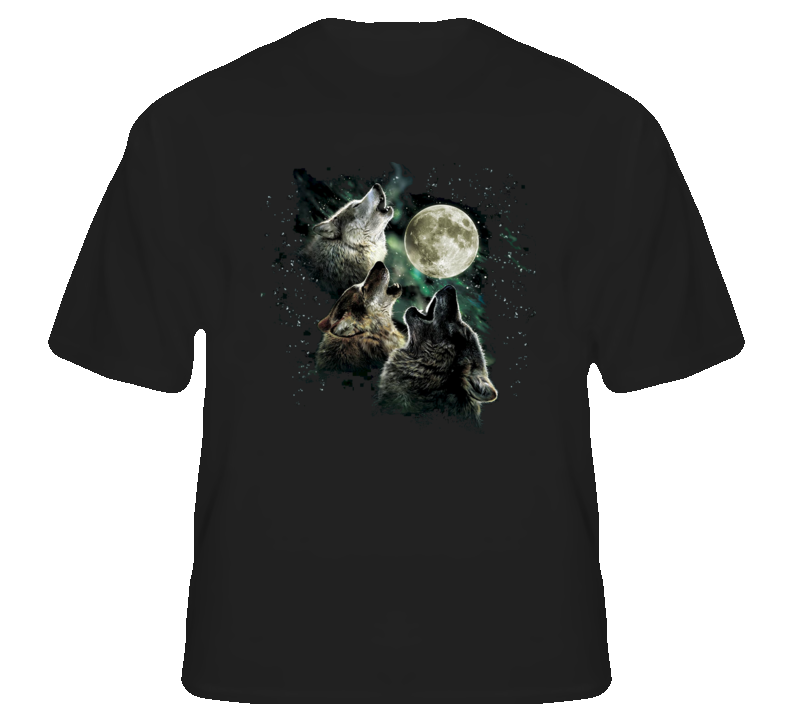 Three Wolves Howling Moon classic fan t shirt