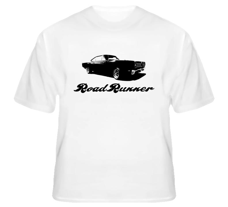 26ad14d7 1969 Plymouth RoadRunner muscle car fan t shirt