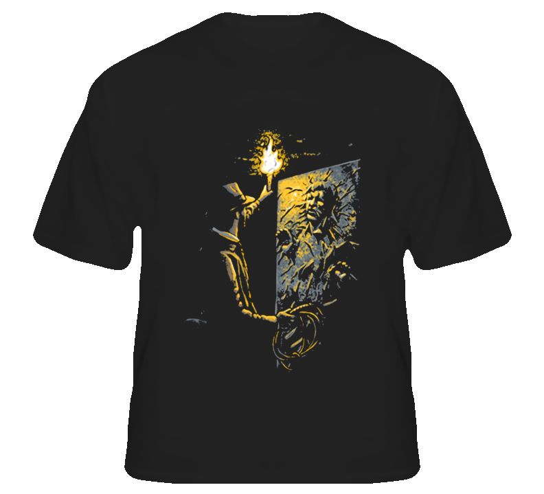 Indy Jones Han Solo mash up funny fantasy fan t shirt