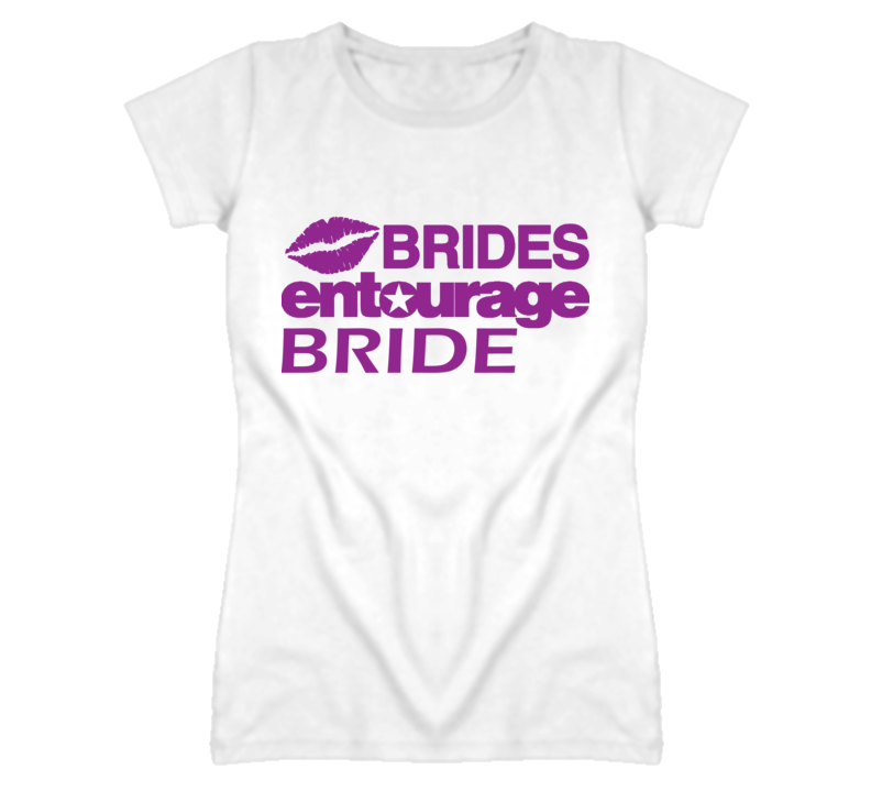 Brides Entourage Bride wedding stag Jack and Jill t shirt