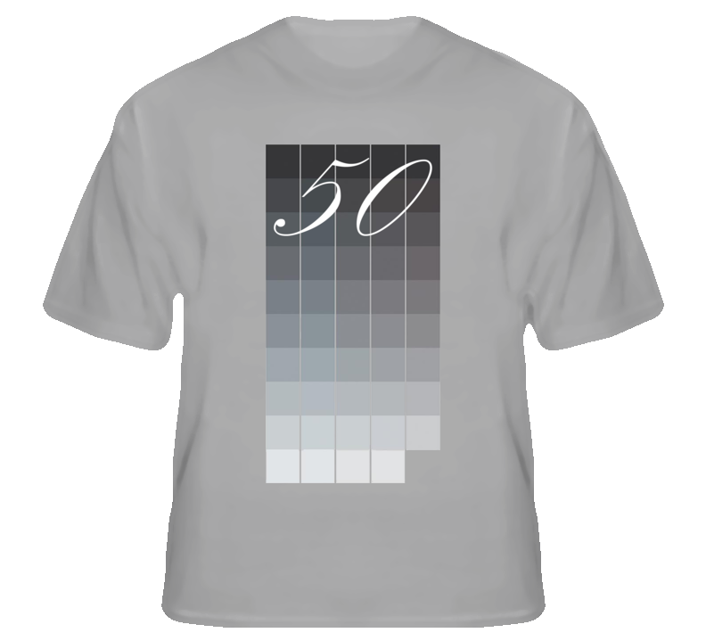 50 Shades of Grey color samples funny sports grey t shirt