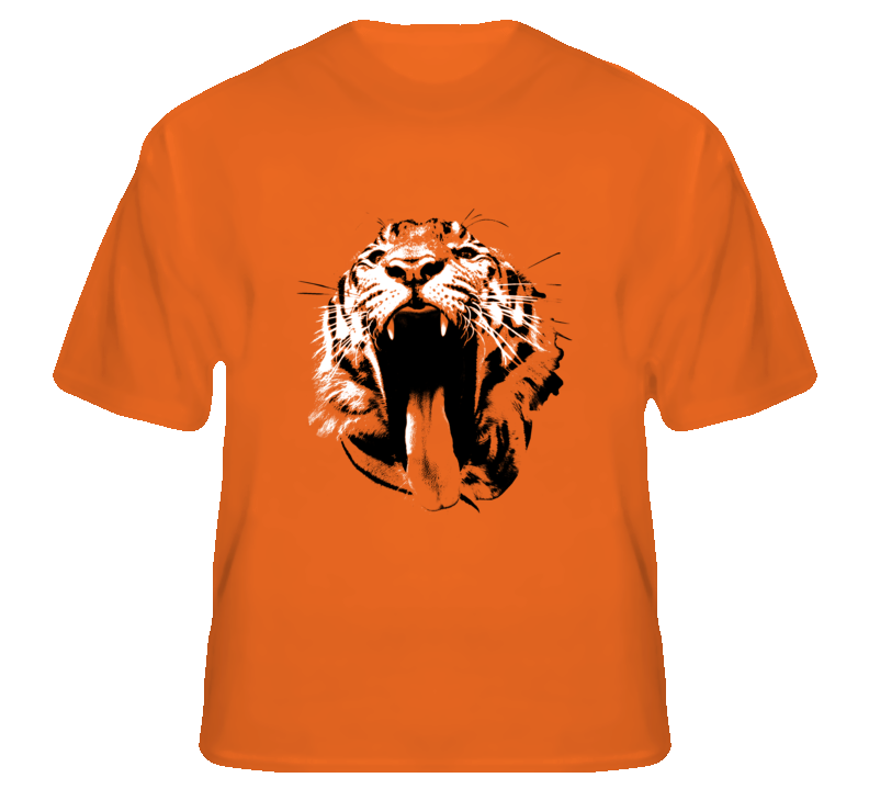 Tiger Wild Animal rock star hip hop fan t shirt