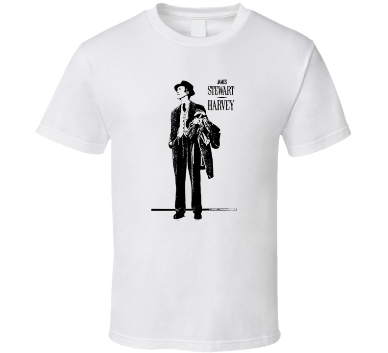 Harvey James Stewart 1950 Classic Flm Movie Fan T Shirt