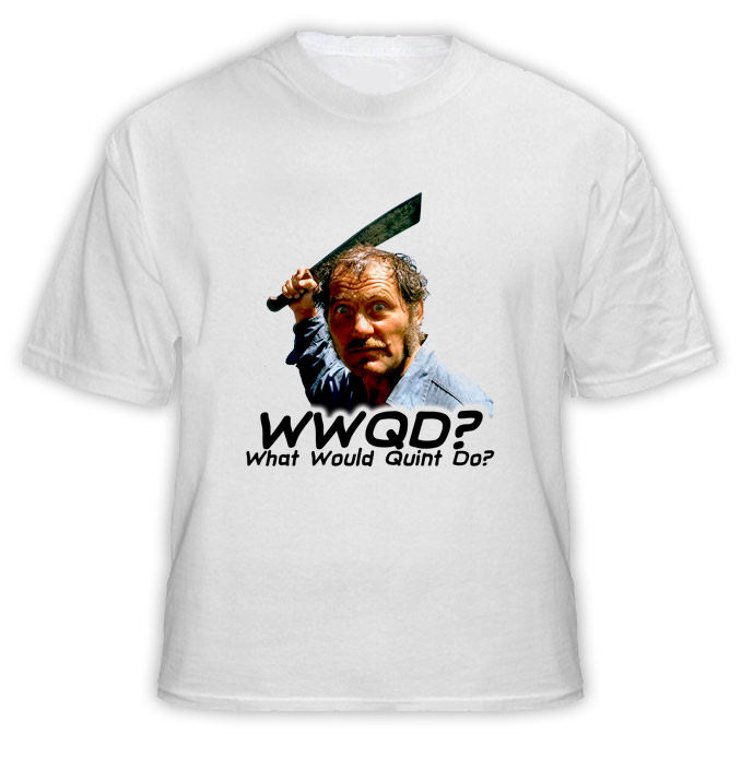 WWQD What Would Quint Do Jaws Movie T Shirt