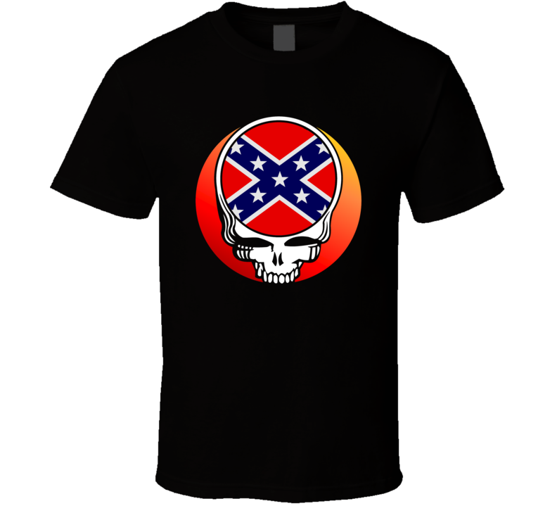 Deadhead Confederate Flag The South Redneck Truck Fan T Shirt