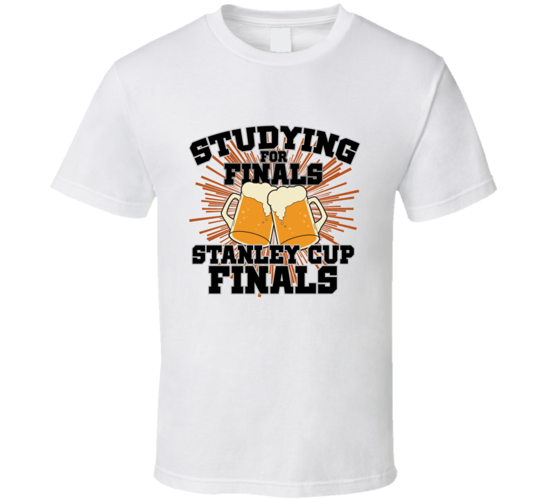 Playoff Hockey Studying For Finals Sports Parody T Shirt