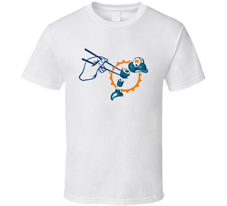 Not A Dolphins Fan Sushi Funny Parody Football T Shirt