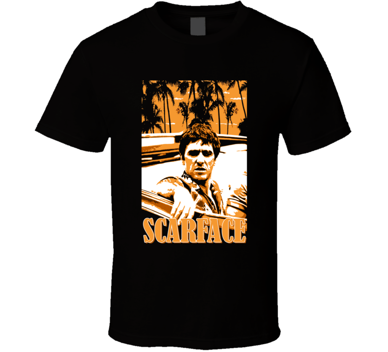 Scarface Al Pacino De Palma Gangster Movie Miami Fan T Shirt