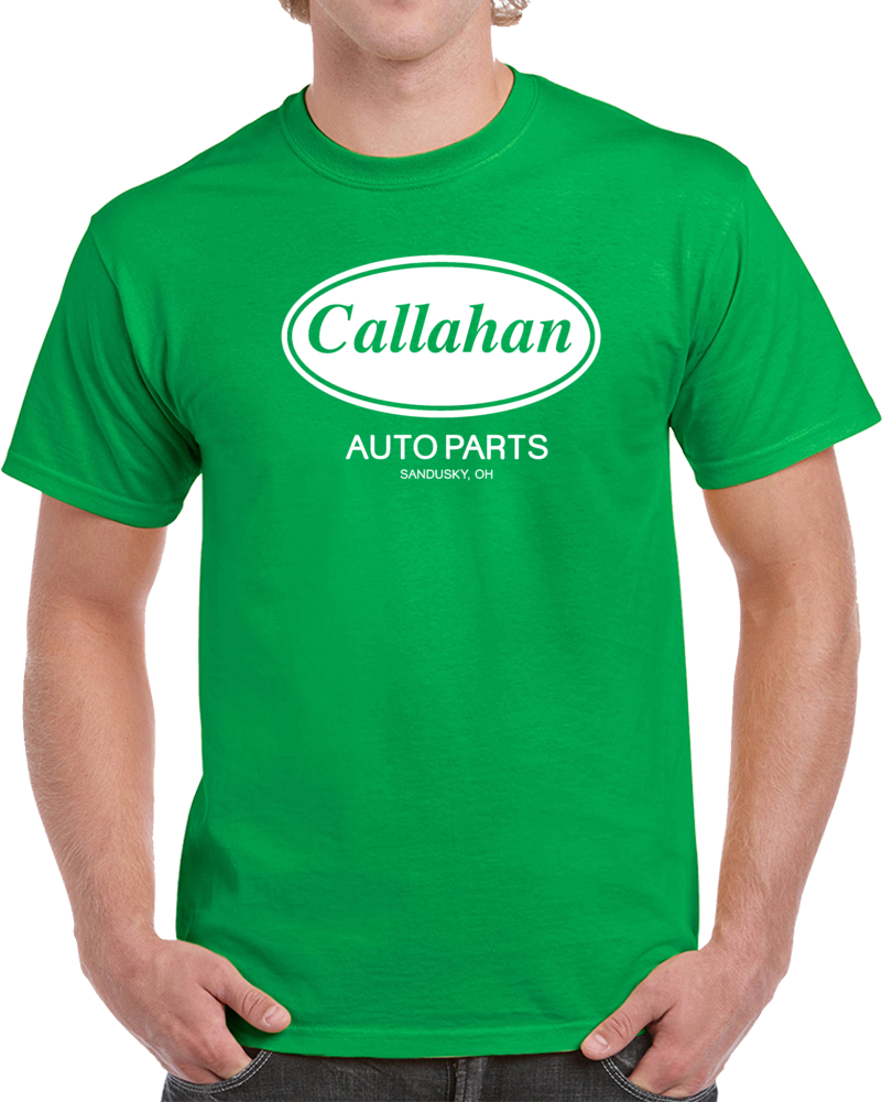 Callahan Auto Parts Tommy Boy Chris Farley Parody Movie T Shirt