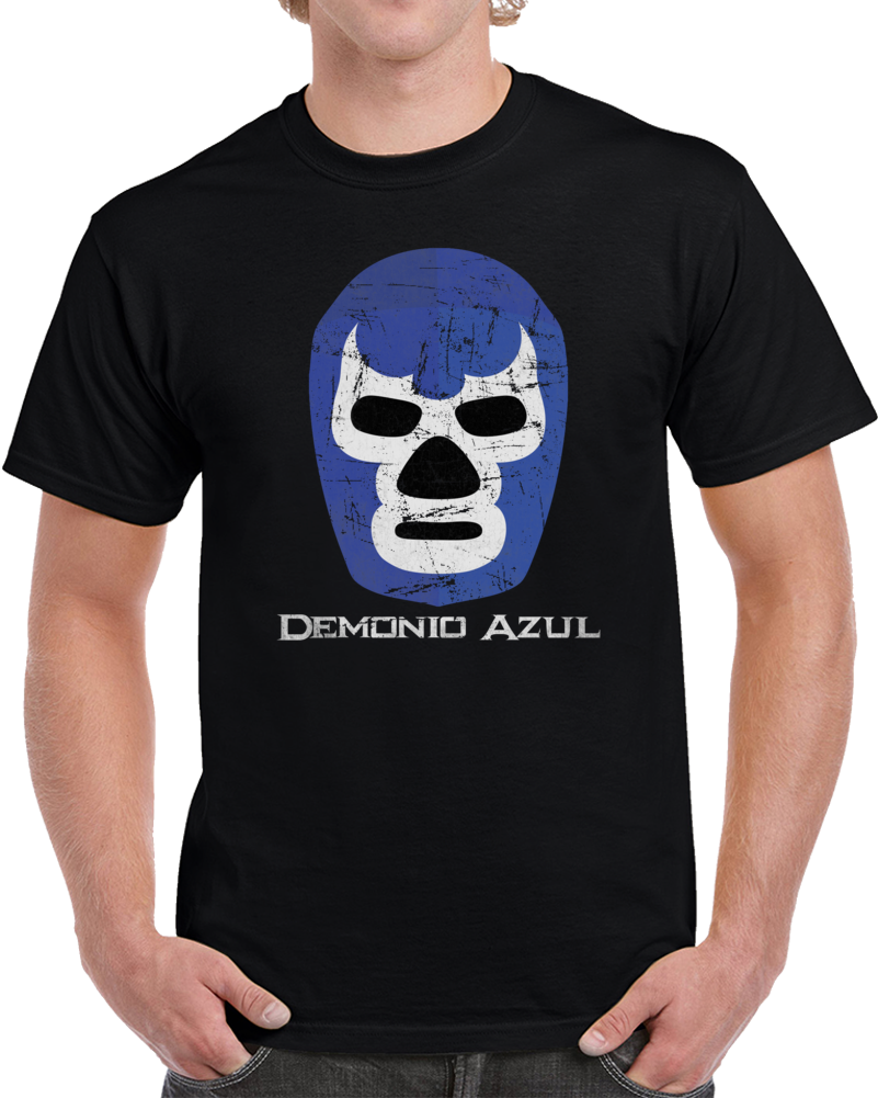 The Blue Demon Demonio Azul Mexican Lucha Libre Wrestling Fan T Shirt