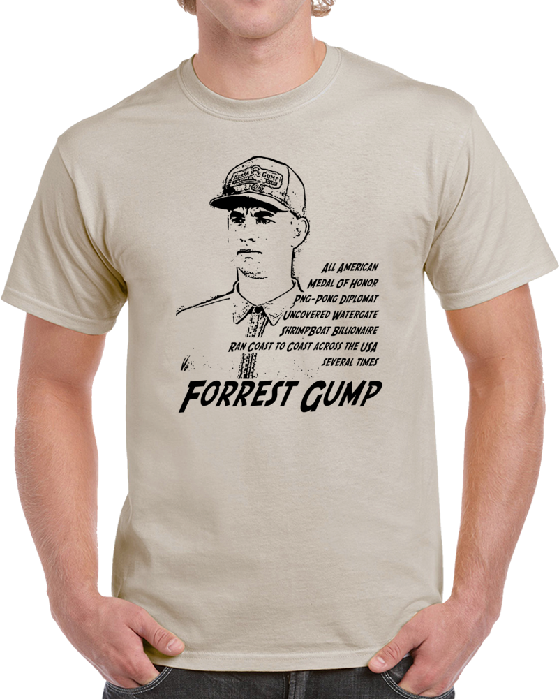 Forrest Gump Movie Parody Funny Cool Fan T Shirt