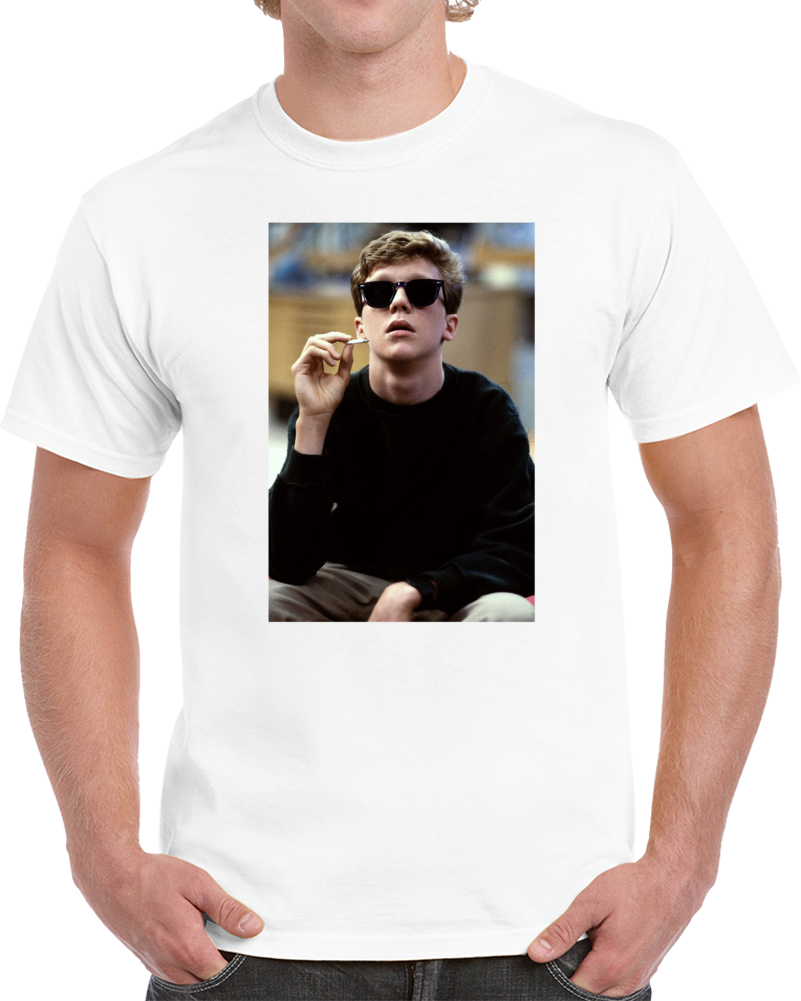 Breakfast Club Anthony Michael Hall Smoking Joint Funny Movie Classic Fan Parody T Shirt