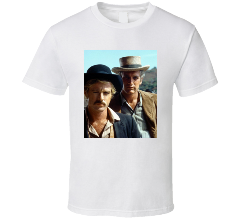 Butch Cassidy And The Sundance Kid Redford Newman Classic Western Movie Fan T Shirt