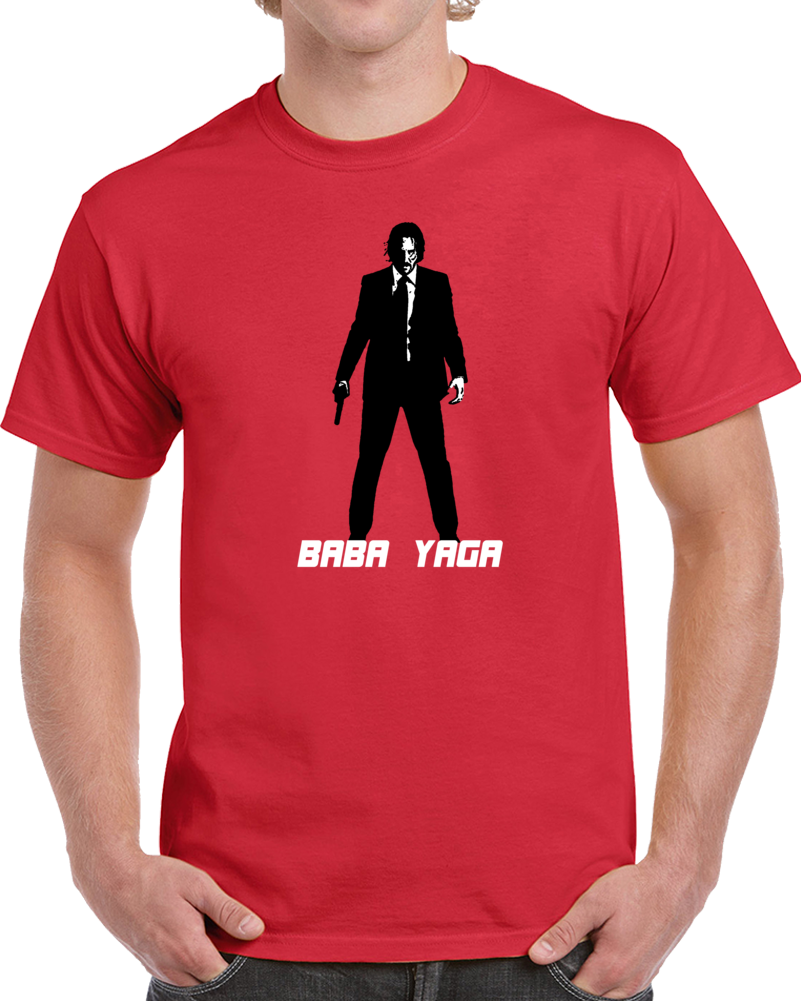 John Wick Baba Yaga Keanu Reeves Legend Movie Parody Fan T Shirt