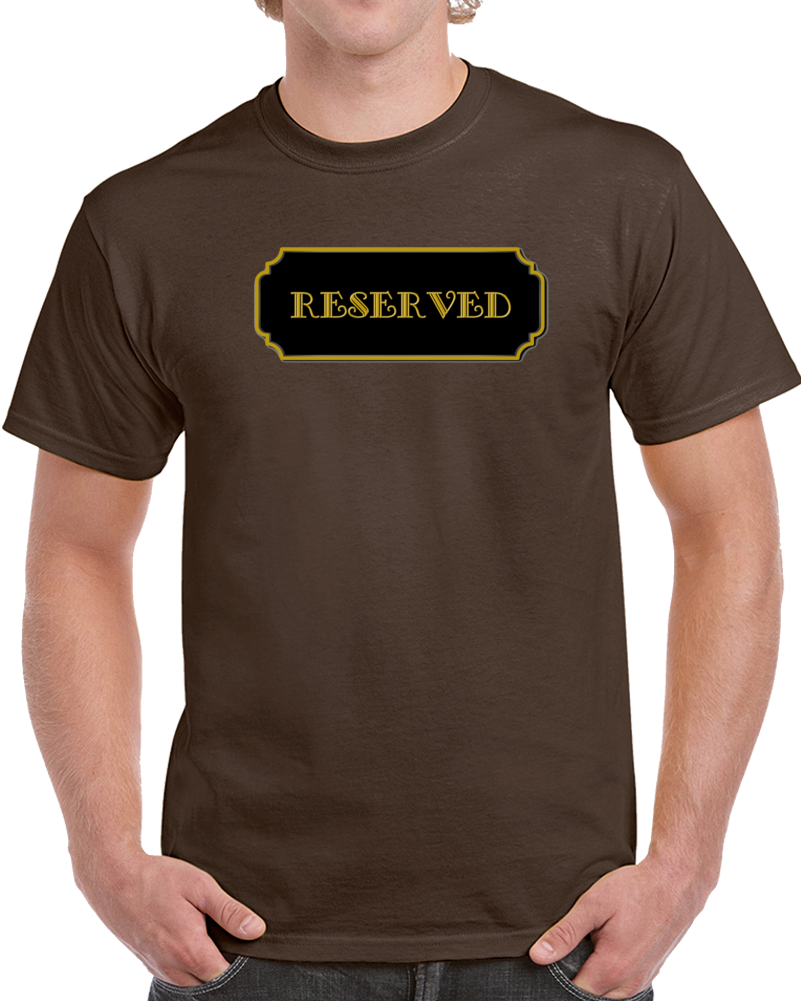Reserved Chocolate Food Love Fan T Shirt