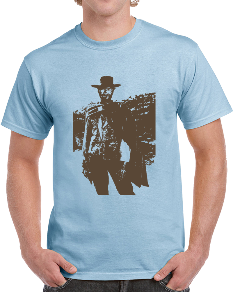 Good Bad Ugly Blondie Cool Clint Eastwood Western Movie Fan T Shirt