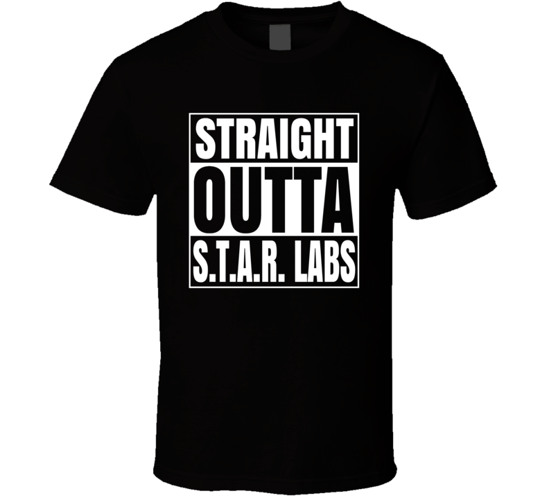 Straight Outta Star Labs Comic Superfan Cool T Shirt