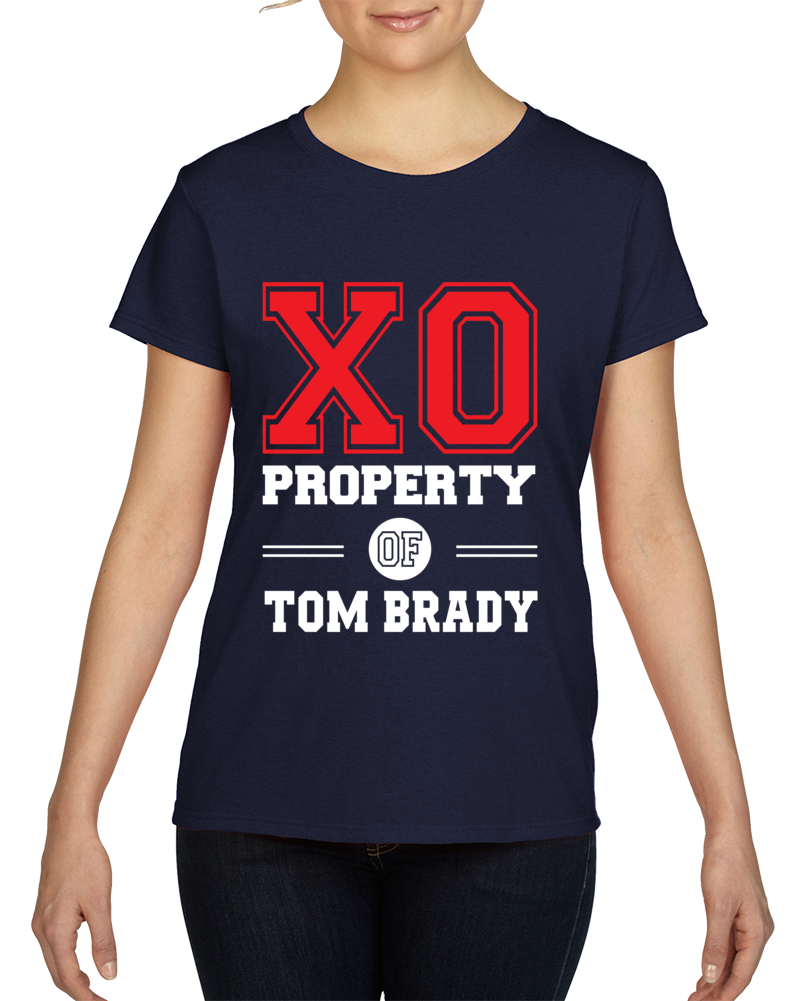 Property Of Tom Brady Ladies Football Superfan T Shirt