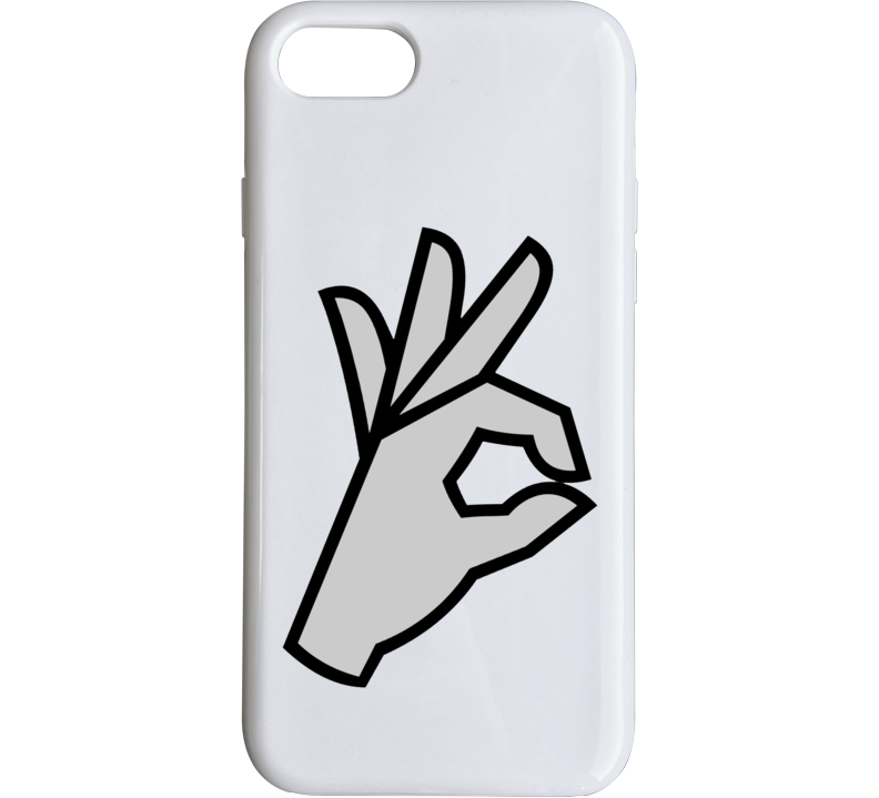 Approved Okay Funny Hand Sign Parody Trending Cool Phone Case