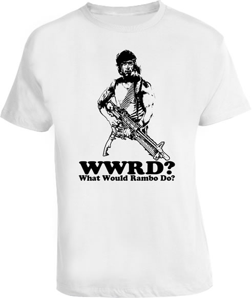 WWRD What Would Rambo Do Stallon T Shirt