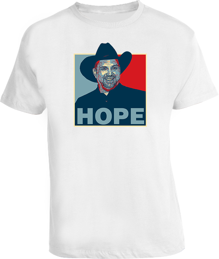 Garth Brooks country Hope Obama t shirt