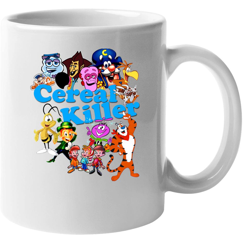 Cereal Killer Funny Breakfast Characters Fan Mug