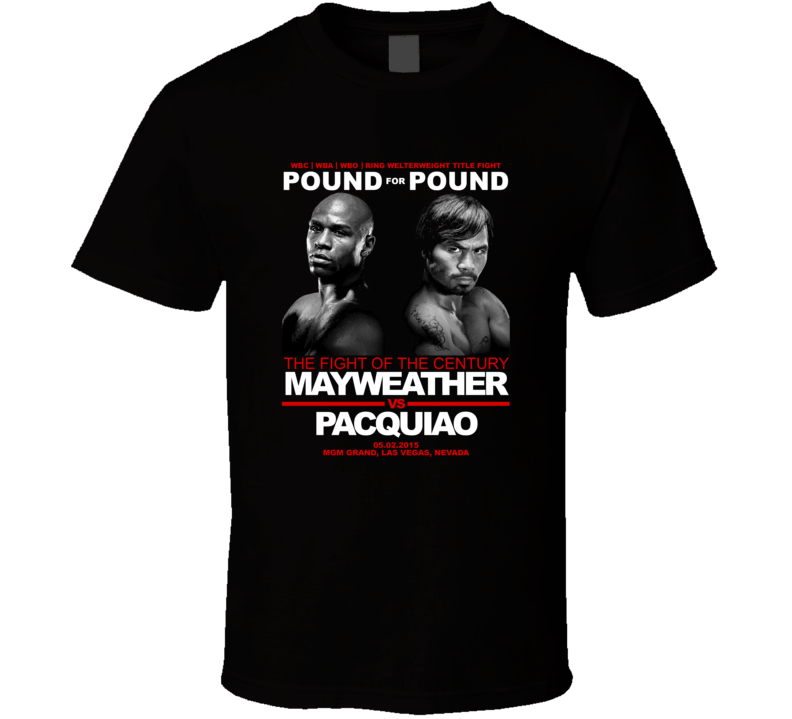 Mayweather Pacquiao May 5 2015 Maypac Boxing Fight Fan T Shirt