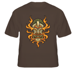 Tiki Head First Man Maori New Zealand native fan t shirt