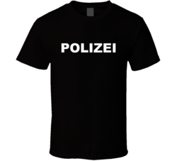 Polizei Police German Law Enforcement Parody T Shirt